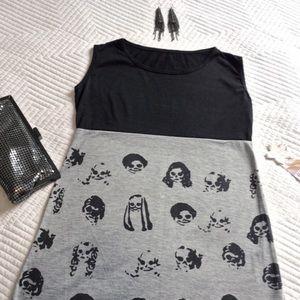 Dresses & Skirts - Skull Print Mini Dress or Tunic, Fits XS